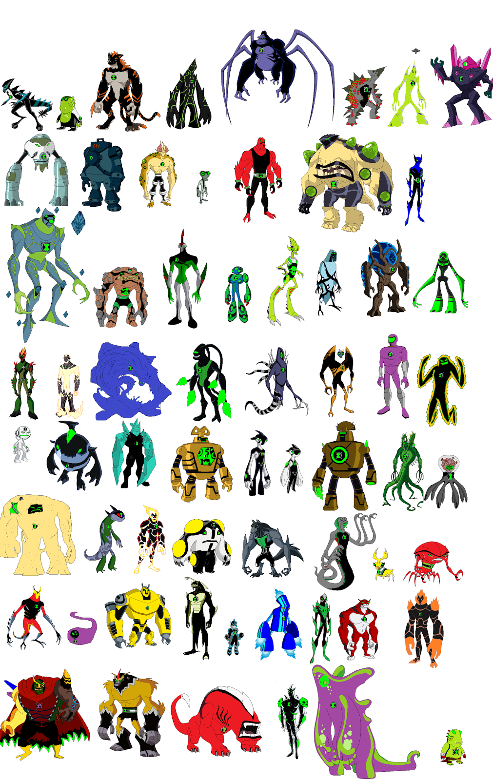Ben 10 omniverse all aliens names and pictures