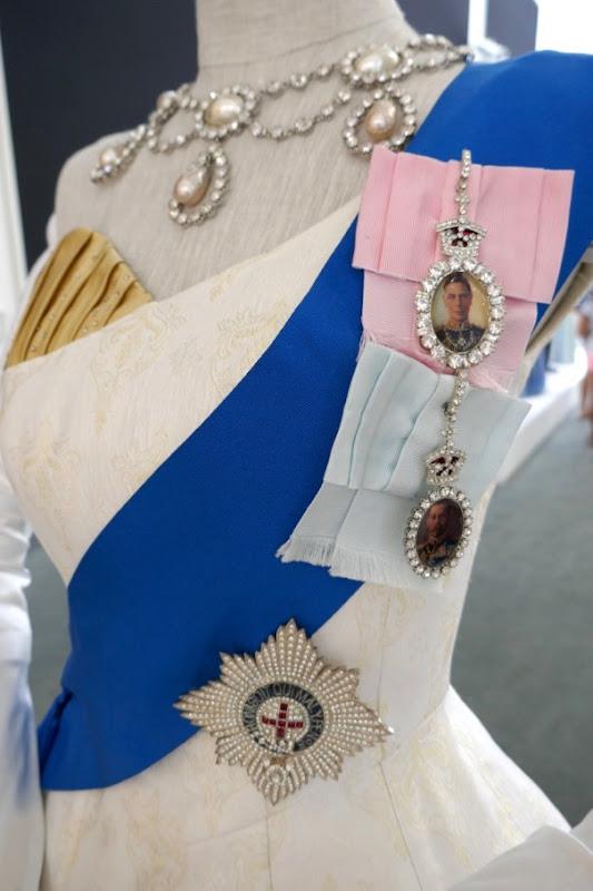 Queen Ambassador Ball Gown sash detail Crown season 2