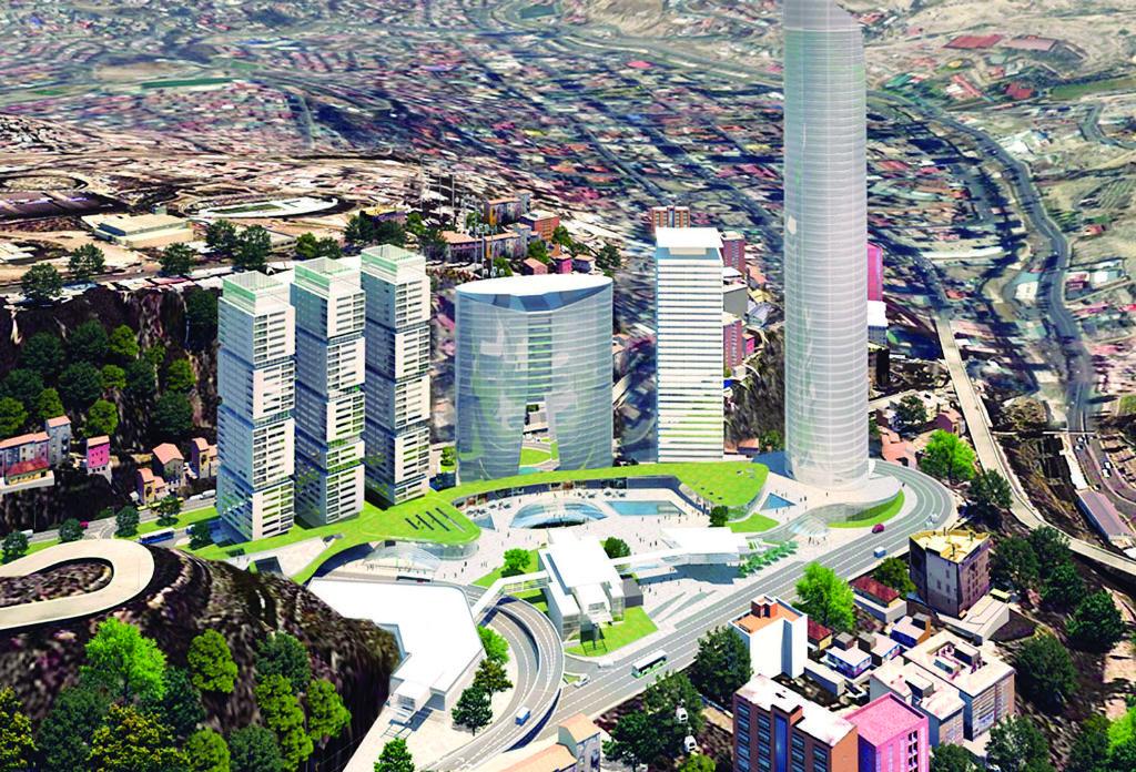 Maqueta del proyecto WTC, antes Ciudad Empresarial Toyota, antes Los Leones / WEB