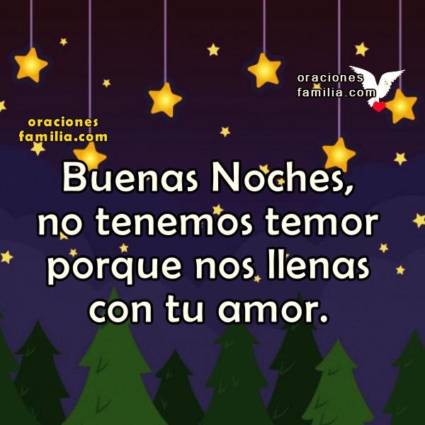 Oración de buenas noches antes de dormir con imágenes cristianas para facebook por Mery Bracho. Frases con oraciones cortas.