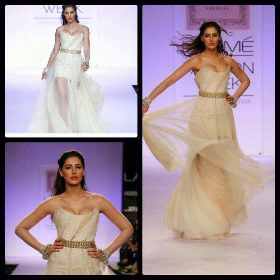 Hot Nargis Fakhri Walks the ramp for Shelaa khan at LFW 2014