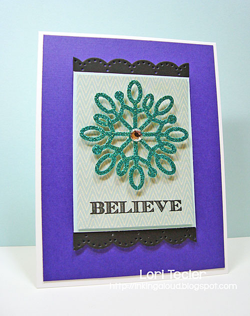 Believe card-designed by Lori Tecler/Inking Aloud-stamps and dies from The Cat's Pajamas