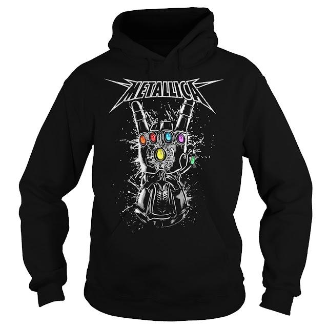 Metallica Infinity Gauntlet Hoodie, Metallica Infinity Gauntlet Sweatshirt, Metallica Infinity Gauntlet T Shirts,