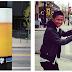 Una cerveza gigante en la calle.