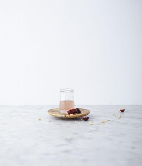 Marmor Holzteller Flasche