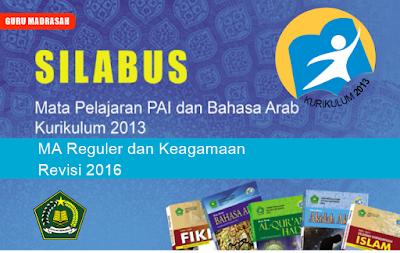 Silabus PAI dan Bahasa Arab Kurikulum 2013 MA Revisi 2016
