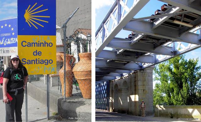 Caminho de Santiago, travessia da fronteira entre Portugal e Espanha
