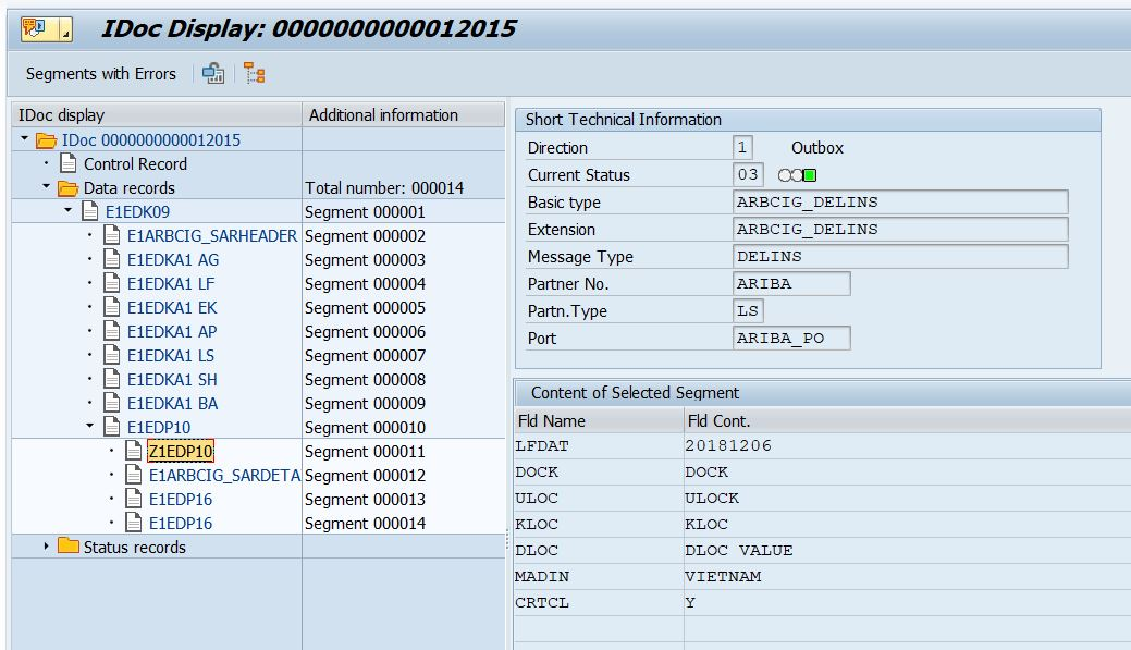 SAP ABAP Central: How to add an user-defined segment to an IDoc