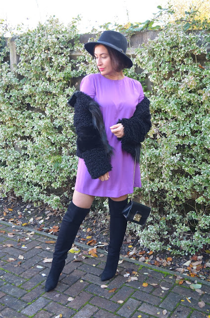 Adriana Style Blog, &other stories, zara over the knee boots, TOPSHOP faux fur, hat, furla metropolis bag, autumn look, autumn outfit, Autumn Elegant Look, look of the day, fashion, moda