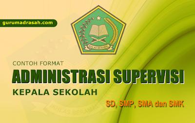 contoh format administrasi supervisi kepala sekolah