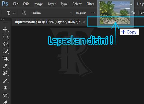 Cara Memasukan Foto kedalam Lembar Kerja Photoshop - Topikramdani.com