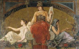 Palas Atenea, diosa de la Sabiduría, imponiendo la paz entre el Oficio y la Industria - Federico Amutio y Amil