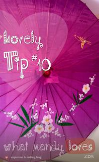 Lovely Tip #10: Hang Parasol In A Corner via www.whatmandyloves.com