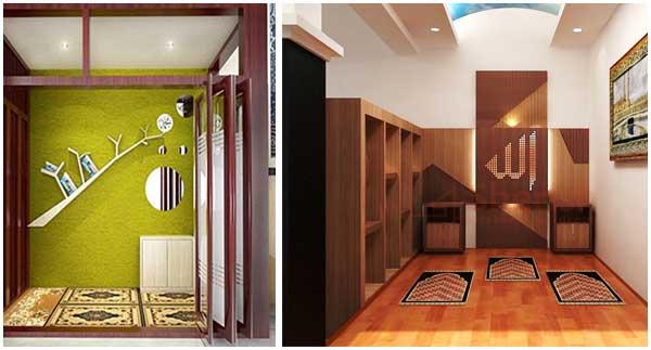 model mushola minimalis dalam rumah sesuai syariah