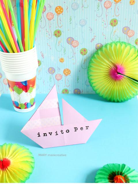 Tutorial origami per inviti a forma di barchetta