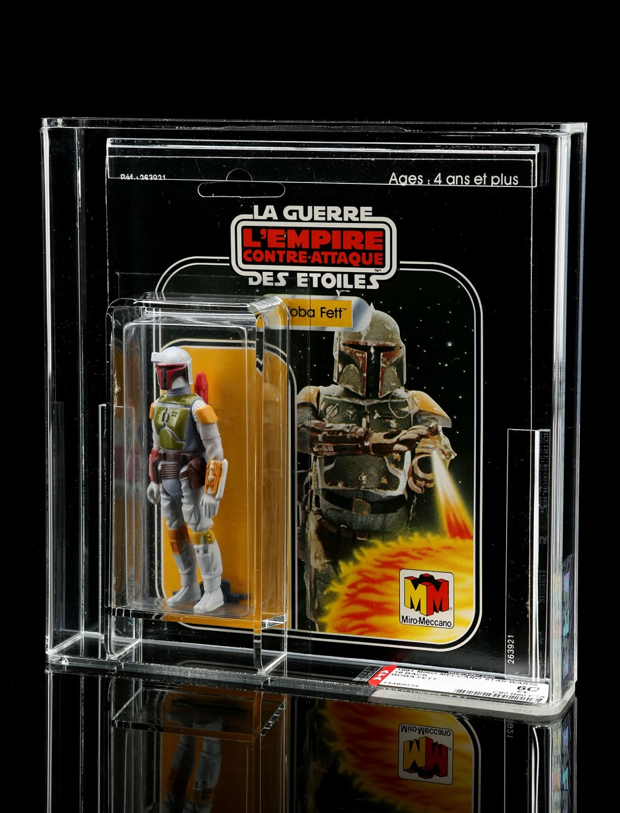 Graded French Boba Fett Action Figure produced by Meccano