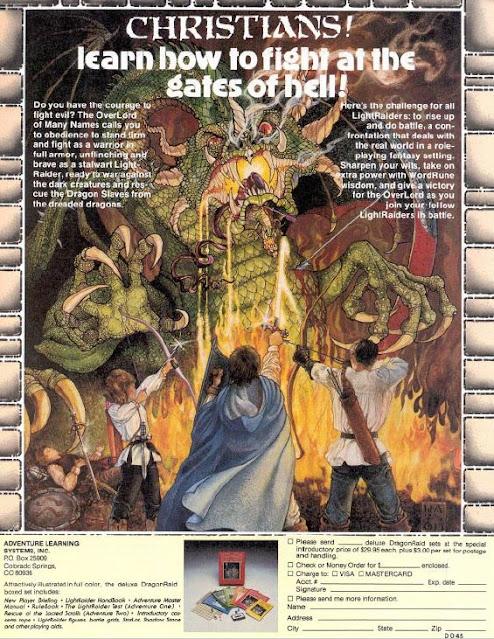 Ad for The DragonRaid RPG