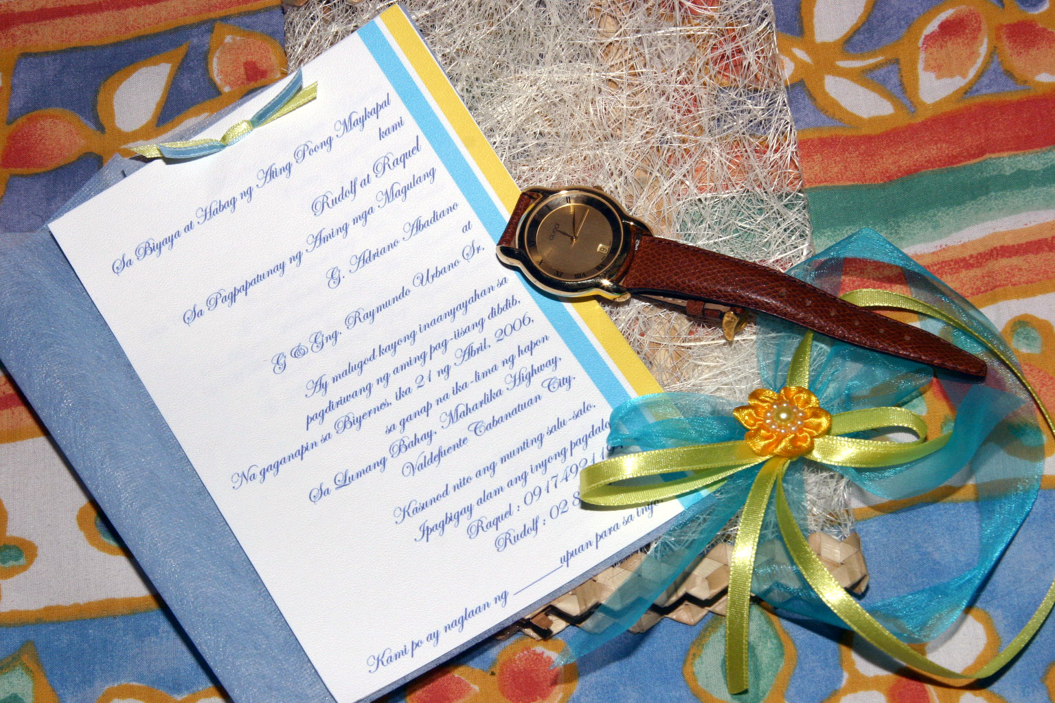 We Also Have A Prayer Written In Tagalog The Last Page Of Our Invitation And Verse As Well