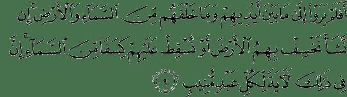 Surat Saba' Ayat 9