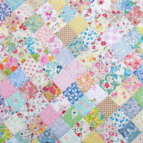 Red Pepper Quilts Scrappy Liberty Patchwork Quilt