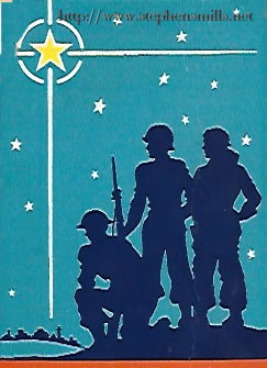 WWII Christmas Post Card from Norton Emmons to Carolyn Emmons 1943