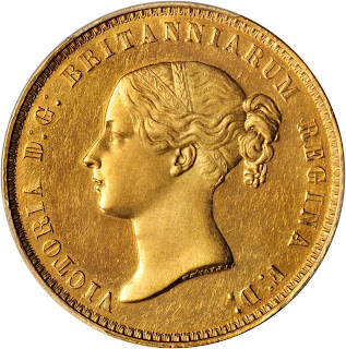 Great Britain 5 Pounds Gold Coin 1839 Queen Victoria