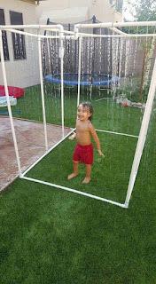 parque de agua DIY duchas para jardin con tubos de PVC