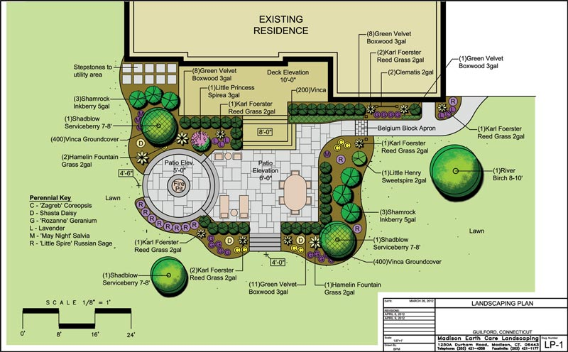 Residential landscape design drawings for Landscape plan drawing