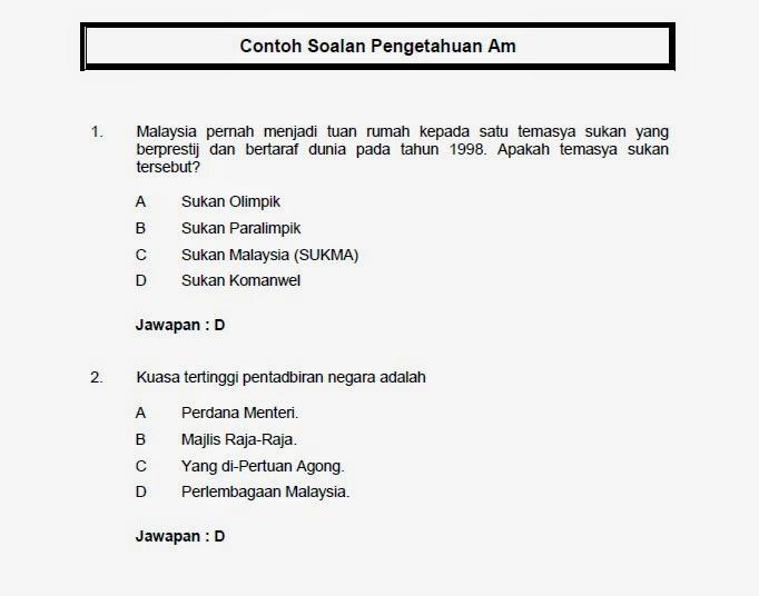 Soalan Pengetahuan Am Malaysia Resepi Book F