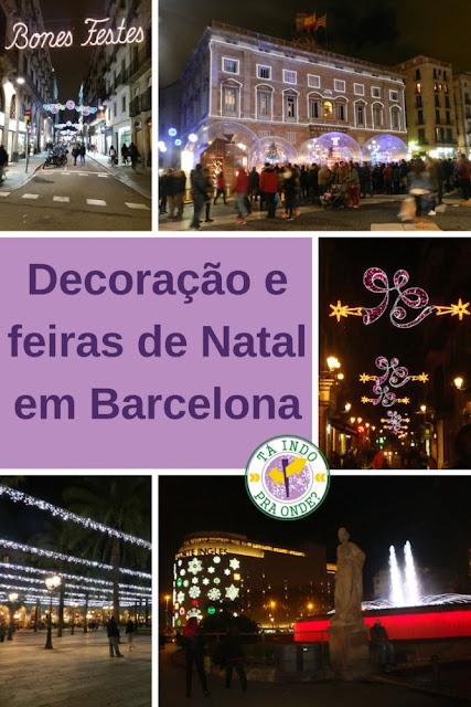 Decoração e feiras/mercados de Natal em Barcelona