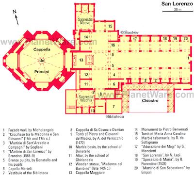 Mappa Basilica di San Lorenzo