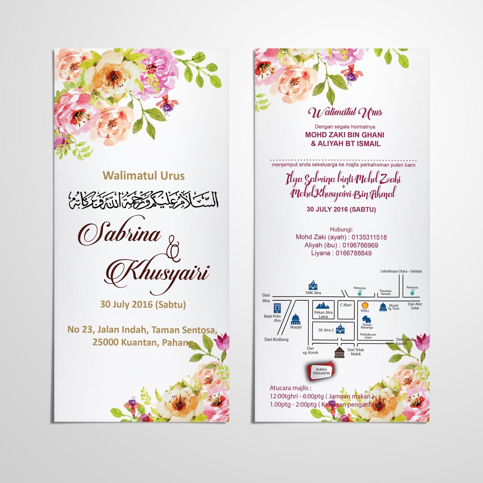 Format Kad Kahwin Simple Berbagai Bekalan Rumah