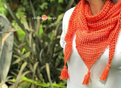 mesh triangle shawl