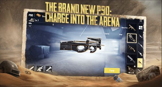 PUBG Mobile'de P90 Silahı nerede bulunur?