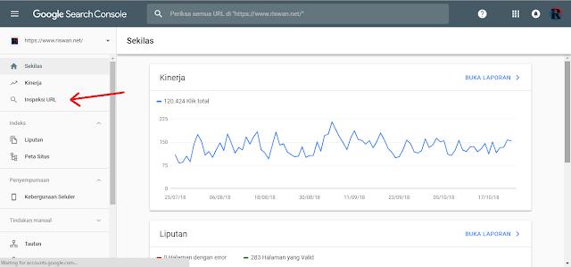 Cara Submit URL di Google Webmaster Yang Baru