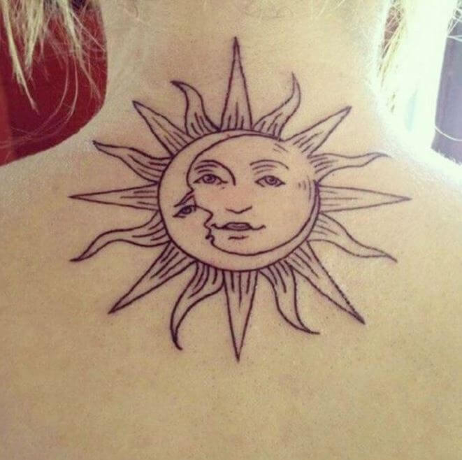 50 sun and moon tattoos ideas for couples 2018 tattoosboygirl. Black Bedroom Furniture Sets. Home Design Ideas