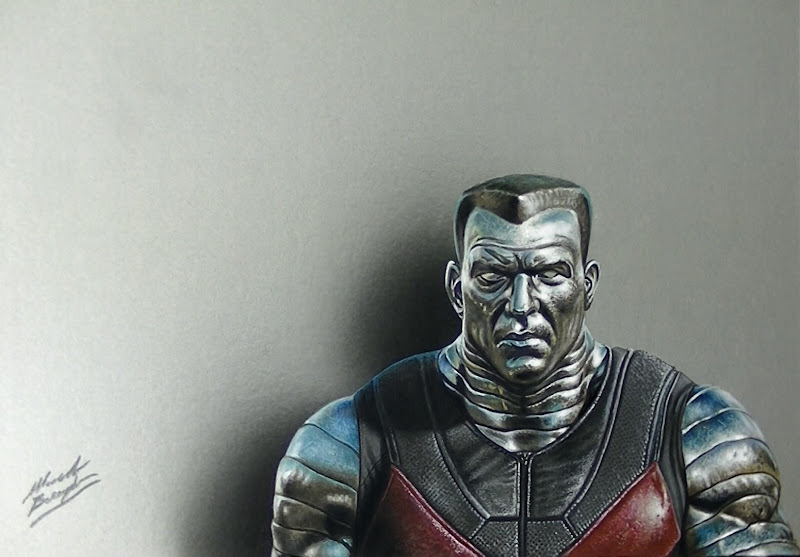 Colossus - Xmen - Drawing - Marcello Barenghi X Men Deadpool Drawings
