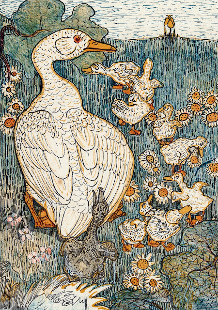 The Ugly Duckling illustration by revered Dutch artist Theo van Hoyetma, 1893.