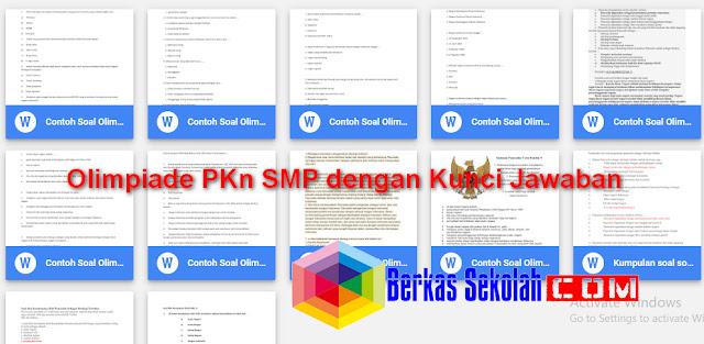 Olimpiade PKn SMP dengan Kunci Jawaban Rayon Kabupaten dan Nasional