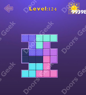 Cheats, Solutions, Walkthrough for Move Blocks Easy Level 124