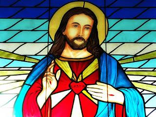 Vitral de Cristo no Santuário Sagrado Coração de Jesus, São Leopoldo