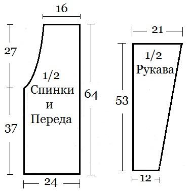 ajurnii jaket kryuchkom shema