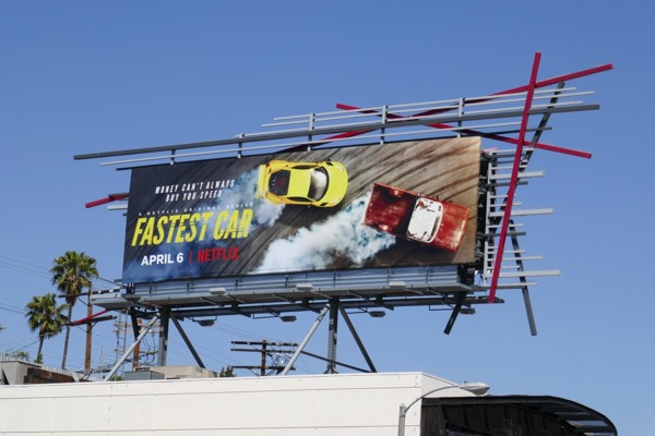 Fastest Car series premiere billboard