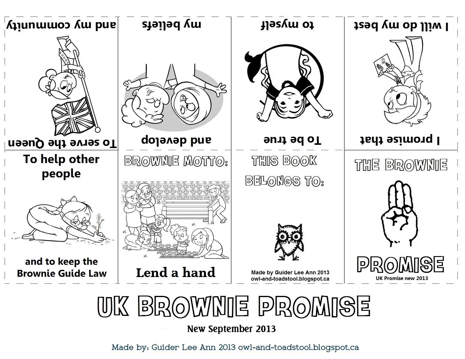 Owl Amp Toadstool Girlguiding Uk New Promise