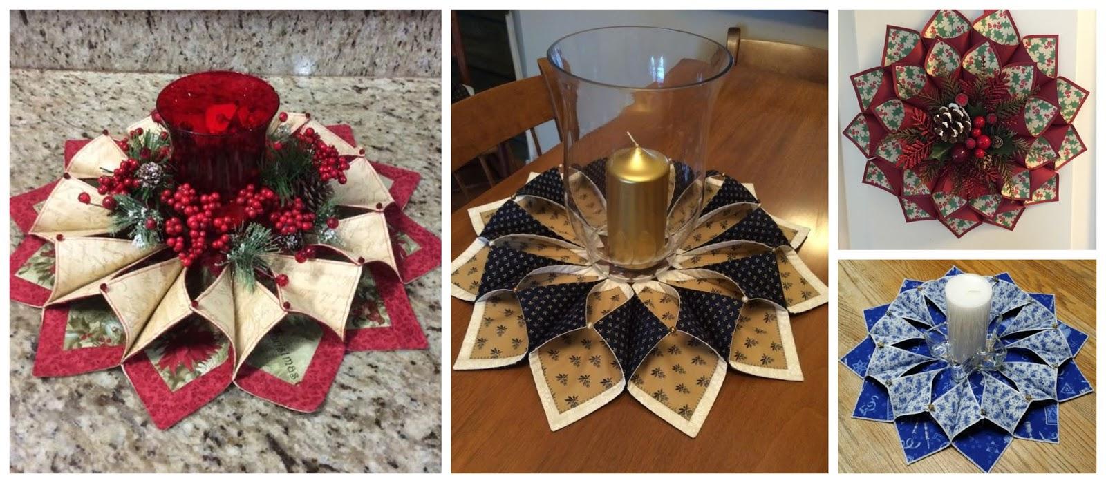 Haz hermosos centros de mesa con tela para esta navidad - Centros de mesas navidenos ...