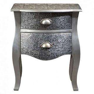 Mesilla Cajones Repujada Silver