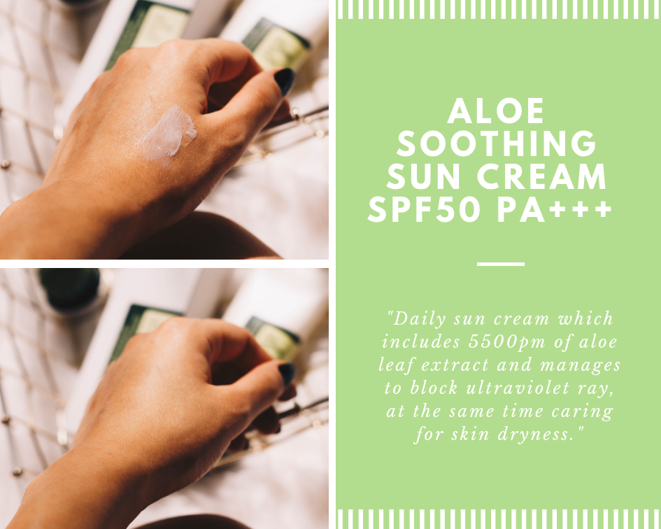The quest for the perfect sunscreen that is not too oily, does not leave a white cast, doesn't have a strong scent (too characteristic to sunscreen) and that works under makeup is over. I'm referring to Cosrx's Aloe Soothing Sun Cream (Korean and cruelty-free brand) with SPF 50+ (UVB protection) and PA +++ (UVA protection). I received it a month ago, along with the Low pH BHA Overnight Mask, on my last order on Jolse. Click to read more!