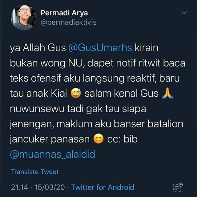 Abu Janda dan Gus Umar AlChelsea