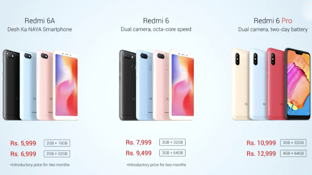 vXiaomi Redmi 6, Redmi 6A, Redmi 6 Pro With AI Face Unlock Launched in India: Price, Specifications, Features