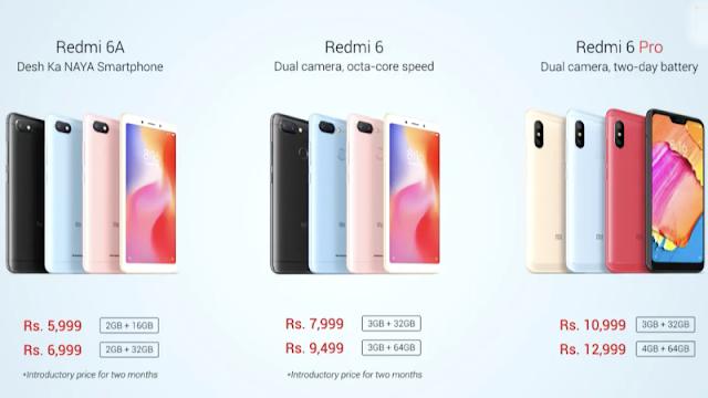vXiaomi Redmi 6, Redmi 6A, Redmi 6 Pro With AI Face Unlock Launched in India: Price, Specifications, Features